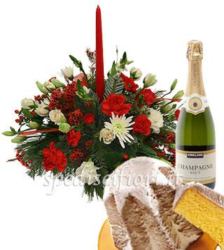 centro-tavola-con-pandoro-e-champagne