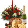 centro-tavola-con-panettone-e-champagne