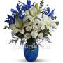 bouquet-di-roselline-gigli-bianchi-e-iris