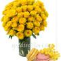 bouquet-di-50-rose-gialle-e-macaron