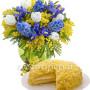bouquet-di-mimose-tulipani-e-iris-con-torta