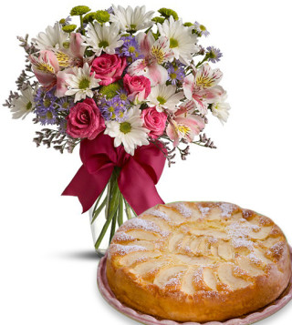 torta-alle-mele-con-bouquet-beautifull