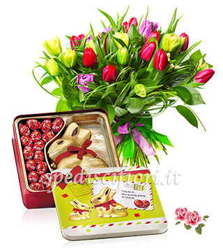 bouquet-di-tulipani-colorati-con-gold-bunny