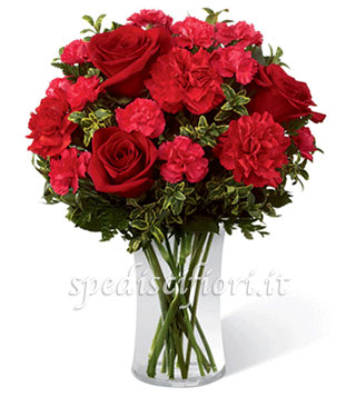 bouquet-di-rose-rosse-e-garofani-rossi