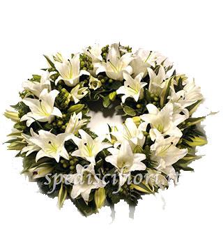 corona-funebre-di-gigli-bianchi