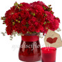 bouquet-di-rose-e-gerebere-con-candela-e-bigliettino