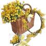 cesto-di-mimose-coroncina-e-mazzettino