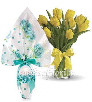 bouquet-di-tupiani-gialli-con-uovo